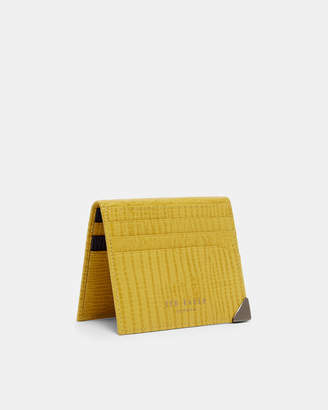 Ted Baker LIZTAY Lizard-effect leather card holder