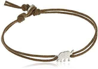 Me & Ro Me&Ro Sterling Paisley Elephant Cord Strand Bracelet