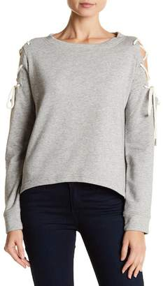 Walter W118 by Baker Kennedy Lace-Up Cold Shoulder Sweatshirt