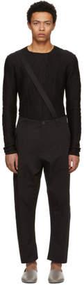 Isabel Benenato Black Baggy Suspender Trousers