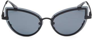 Le Specs Luxe Adulation Gray Cat Eye Sunglasses