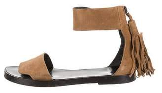 Pierre Hardy Suede Ankle-Strap Sandals