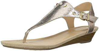 Kenneth Cole Reaction Women's Mix Studded T-Strap Wedge Sandal