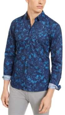 HUGO BOSS Men's Extra-Slim Floral Shirt