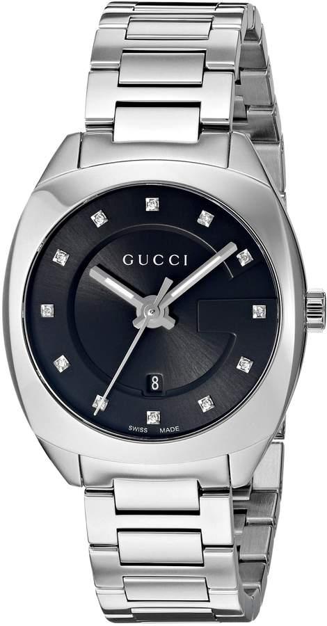 Gucci Women's Swiss Quartz Stainless Steel Dress Watch, Color:Silver-Toned (Model: YA142503)