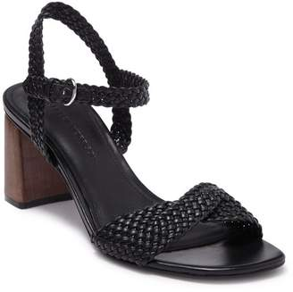Sigerson Morrison Darby Leather Block Heel Sandal