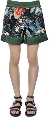 Christian Pellizzari Floral Printed Nylon Swim Shorts
