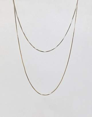 Weekday thin multi necklace