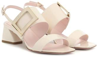 Roger Vivier Gommettine patent leather sandals