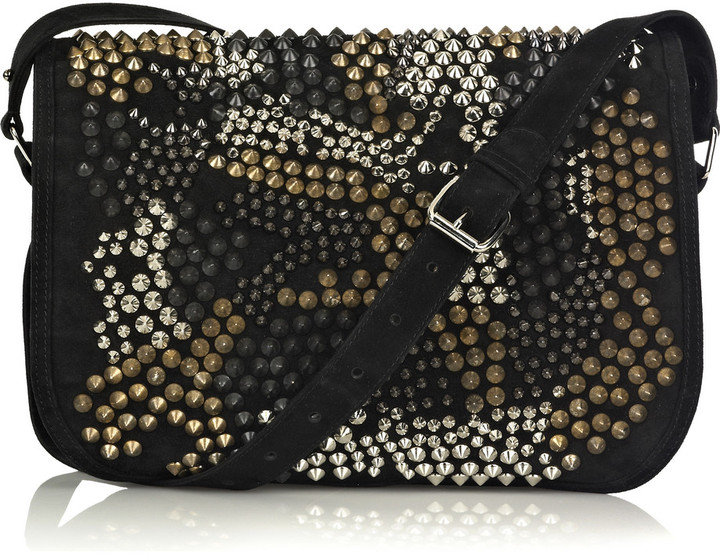 Balmain Punk suede studded bag