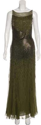 Naeem Khan Beaded Maxi Dress