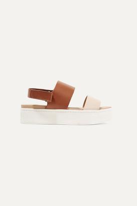 Vince Westport Two-tone Leather Platform Slingback Sandals - Tan