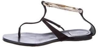 Christian Dior Embellished Satin Sandals