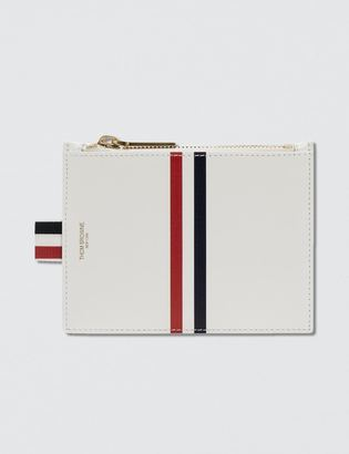 Thom Browne Calf Leather Small Coin Purse (14.5cm) with RWB Printed Stripe $460 thestylecure.com