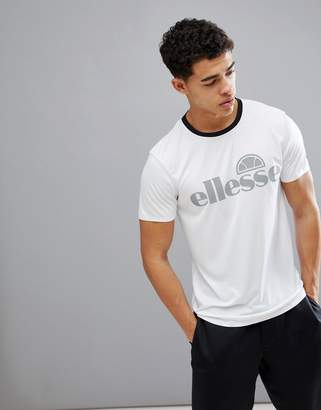 Ellesse Sport T-Shirt With Reflective Logo In White