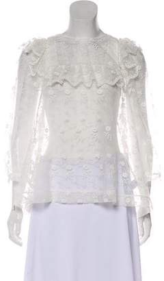Simone Rocha Embroidered Long Sleeve Blouse w/ Tags