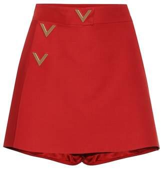 Valentino Wool and silk miniskirt