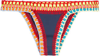 Kiini Tasmin Crochet Trimmed Bikini Bottoms