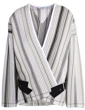 J.W.Anderson Buckled Striped Stretch-Knit Jacket