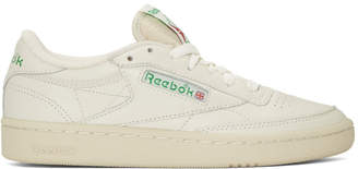 Reebok Classics White and Green Club C 85 Vintage Sneakers