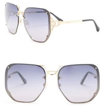 Roberto Cavalli 62mm Metal Oversized Sunglasses