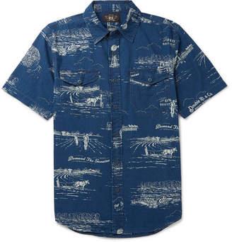 Ralph Lauren RRL Printed Cotton-Chambray Shirt