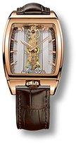 Corum ゴールデンブリッジ113.165.55 / 0002 gl10r 34 mm 18 KゴールドケースブラウンレザーWomen 's Watch