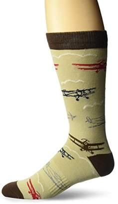 K. Bell Socks Men's Planes Crew