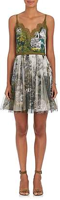 Alberta Ferretti Women's Jungle-Print Crepe & Tulle Minidress