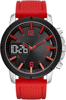 GENEVA Geneva Mens Red Strap Watch-Fmdjm574