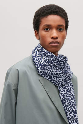 Cos Silk-cotton scarf
