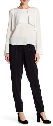 Badgley Mischka High Waist Pull Up Pleated Trousers