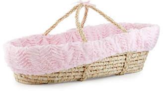 Swankie Blankie Ziggy Moses Basket w/ Bedding, Pink