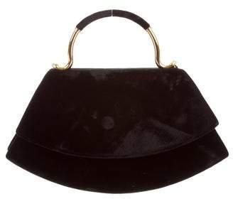 Karl Lagerfeld by Velvet Handle Bag