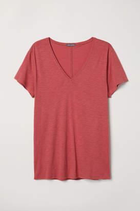H&M V-neck T-shirt - Red