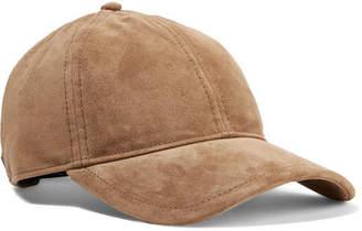 Rag   Bone Marilyn Leather-trimmed Suede Baseball Cap - Tan f5b1b4cac15