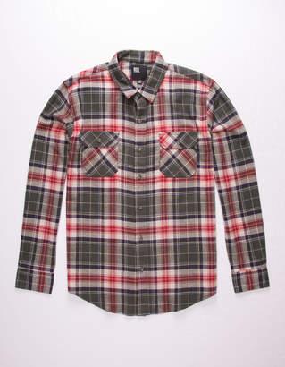 Rsq Pecan Plaid Flannel Mens Shirt