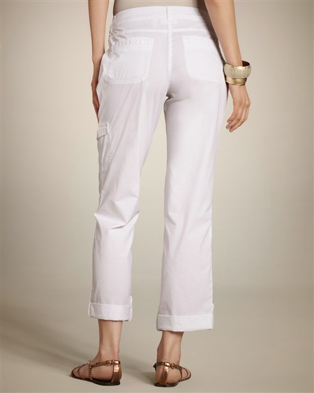 Chico's Cool Cotton Utility Crop