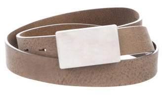 Maison Margiela Pebbled Leather Belt w/ Tags