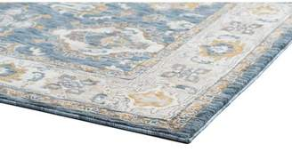 Three Posts Matteson Traditional Navy/Beige Area Rug