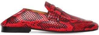 Isabel Marant 10mm Fezzy Python Printed Penny Loafers