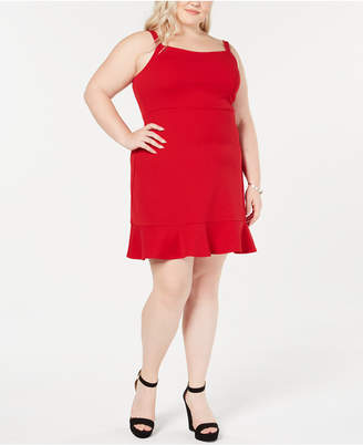 Soprano Trendy Plus Size Flounce A-Line Dress