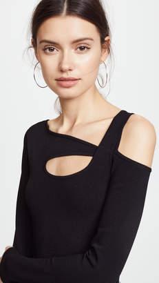 Autumn Cashmere Asymmetrical Cold Shoulder Top