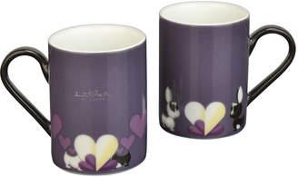 Berghoff Lover by Lover Porcelain Coffee Mug Pair - Purple