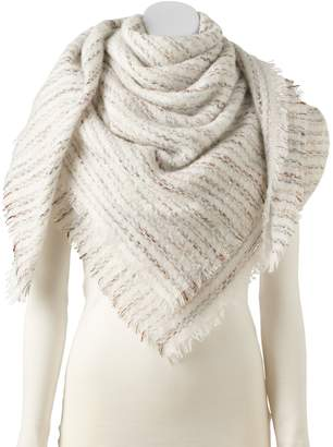 Apt. 9 Women's Blurred Lines Boucle Blanket Square Scarf