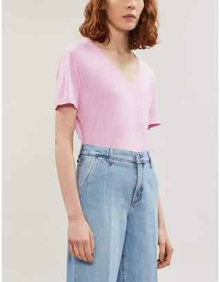 Cotton Citizen Sydney V-neck cotton-blend T-shirt