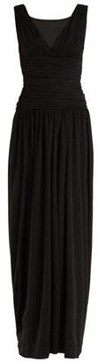 Norma Kamali Tara Wide Leg Jumpsuit - Womens - Black