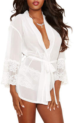 Dreamgirl Robe and Panty Lingerie Set