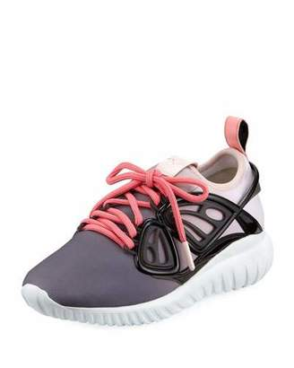Sophia Webster Fly By Scuba Chunky Sneakers with Vinyl Butterfly