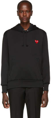 Comme des Garcons Black Heart Patch Mens Fit Hoodie
